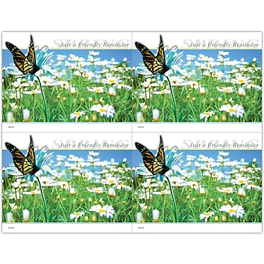 MAP Brand Scenic Laser Postcards Spring, Butterfly and Flowers