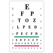 MAP Brand Graphic Image Laser Postcards Eye Chart (Snellen)
