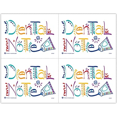 MAP Brand Recycled Laser Postcards Dental Notes