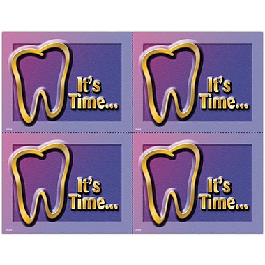 MAP Brand Gentle Dental Laser Postcards It's Time, Tooth