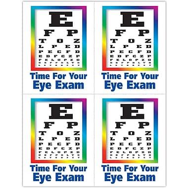 MAP Brand Graphic Image Laser Postcards Eye Chart Image