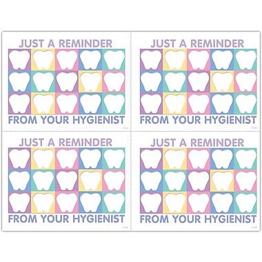 MAP Brand Hygienist Laser Postcards Tooth Quilt Reminder