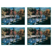 "MAP Brand Scenic Laser Postcards Mountain Stream, ""Clear Vision begins with healthy Eyes"""