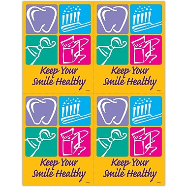 MAP Brand Graphic Image Laser Postcards Smile Healthy