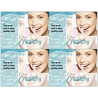 MAP Brand Photo Image Laser Postcards Healthy, Blue