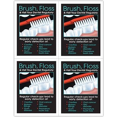 MAP Brand Preventive Laser Postcards Brush/Floss/Visit