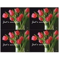 Custom Postcards Medical Red Tulips