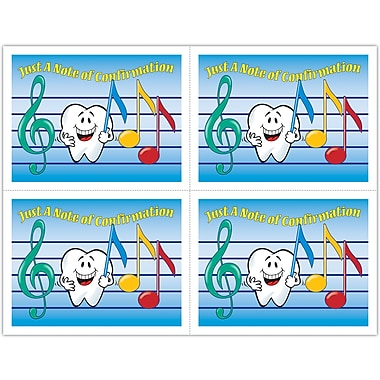 MAP Brand Smile Team Laser Postcards Music Notes