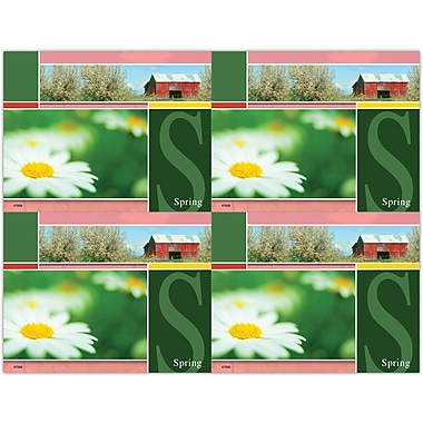 MAP Brand Scenic Laser Postcards Red Barn, Spring
