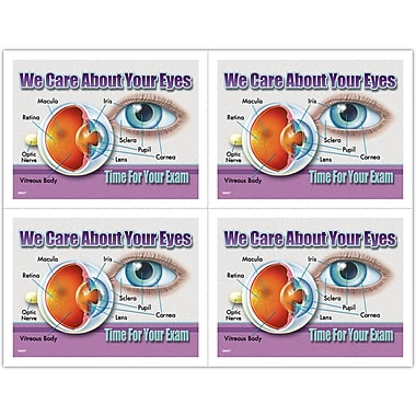 MAP Brand Photo Image Laser Postcards About Eyes Diagram