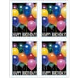 MAP Brand Photo Image Laser Postcards Happy Birthday Balloons