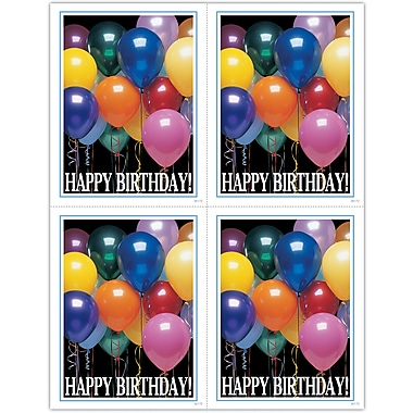 MAP Brand Photo Image Laser Postcards Happy Birthday Balloons