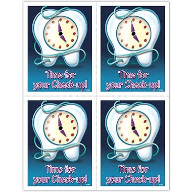 MAP Brand Graphic Image Laser Postcards Tooth/Clock/Floss