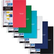 Five Star® Wirebound Notebook, 5 Subject, College Ruled, Asst. Colors (06208)