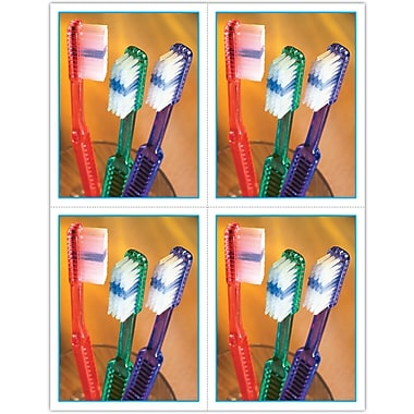 MAP Brand Graphic Image Laser Postcards Toothbrushes in Glass