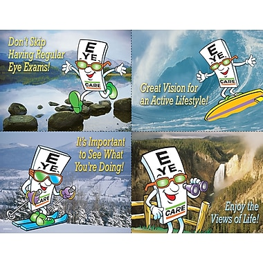 MAP Brand Eye Guy Assorted Laser Postcards Great Vision