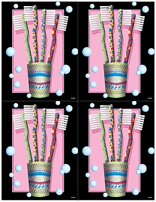 MAP Brand Gentle Dental Laser Postcards Cup Of Brushes 744666