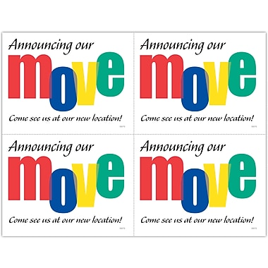 MAP Brand Graphic Image Laser Postcards Announcing Our Move