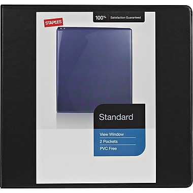 Staples® Standard View Binder with D-Rings, 1/2