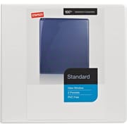 Staples Standard 1-Inch Round Ring View Binder, White (26337)