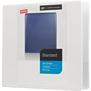 Staples Standard 1.5-Inch Round Ring View Binder, White (26339)