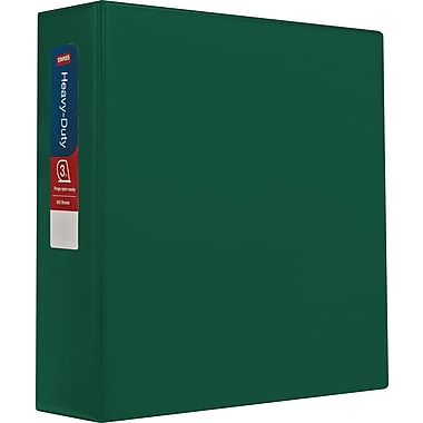 Staples Standard 3-Inch D-Ring Binder, Green (26354)