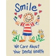 MAP Brand Recycled Laser Postcards Smile, We Care About Your Dental Health