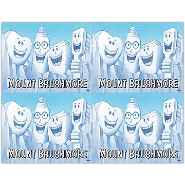 MAP Brand Smile Team Laser Postcards Mount Brushmore