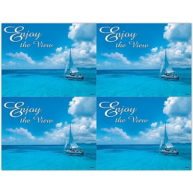 MAP Brand Scenic Laser Postcards Sailboat/Ocean, Enjoy the View