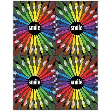 MAP Brand Graphic Image Laser Postcards 4 Color Toothbrush