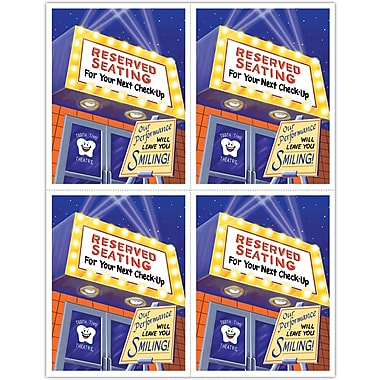MAP Brand Graphic Image Laser Postcards Reserved Seating