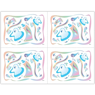 MAP Brand Graphic Image Laser Postcards Pastel Dent Icons