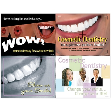 MAP Brand Graphic Image Assorted Laser Postcards Cosmetic Dentistry