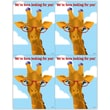MAP Brand Humorous Recycled Laser Postcards Giraffe Glasses