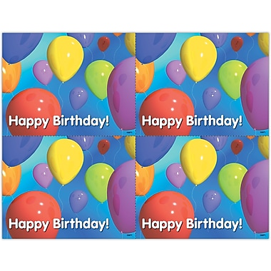 MAP Brand Graphic Image Laser Postcards Many Balloons Birthday