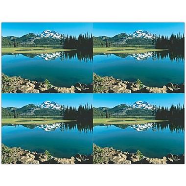 MAP Brand Scenic Laser Postcards Mountain Lake Scene