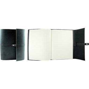 Winnable Bonded Leather Cover Notebook, Charcoal, 192 pages