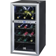 Kalorik 18-Bottle Wine Cooler, Black Silver