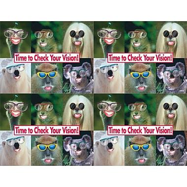 MAP Brand Humorous Laser Postcards Animals W/Glasses