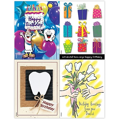 MAP Brand Graphic Image Assorted Laser Postcards Happy Birthday from Dentist