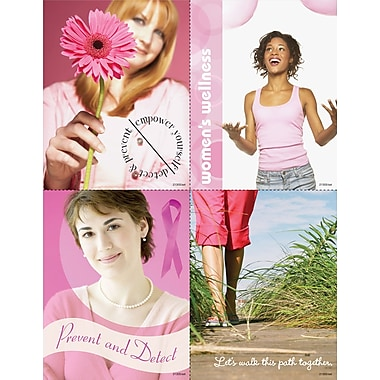 MAP Brand Photo Image Assorted Laser Postcards Think Pink, Prevent and Detect