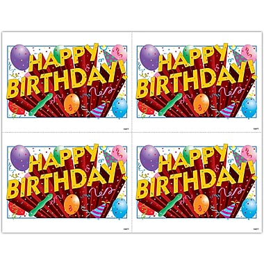 MAP Brand Graphic Image Laser Postcards Balloons and Confetti
