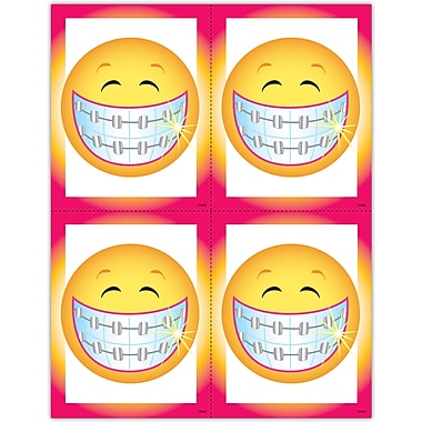 MAP Brand Orthodontia Laser Postcards Smiley Face with Braces