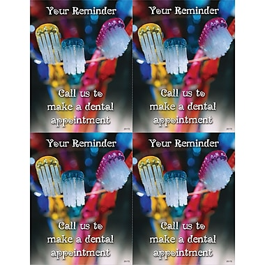 MAP Brand Photo Image Laser Postcards Colored Toothbrushes