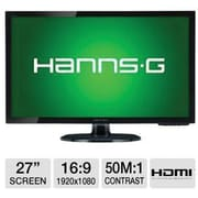 Hannspree 27 Widescreen LED Backlight LCD Monitor Full HD 1080P w/ HDMI & Speakers