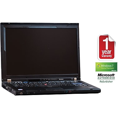 Refurbished Lenovo T400 ThinkPad 14in., 160GB Hard Drive, 4GB Memory, Intel Core 2 Duo, Win 7 Home