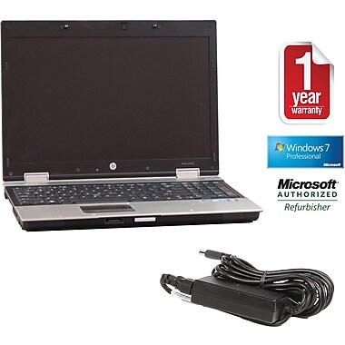 Refurbished HP 8540P 15.5in., 250GB Hard Drive, 4GB Memory, Intel Core i7, Win 7 Pro