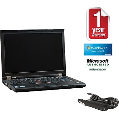 Refurbished Lenovo T410 14.1in., 250GB Hard Drive, 4GB Memory, Intel Core i5, Win 7 Pro