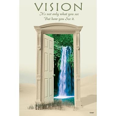 MAP Brand Inspirational Laser Postcards Door, Waterfall