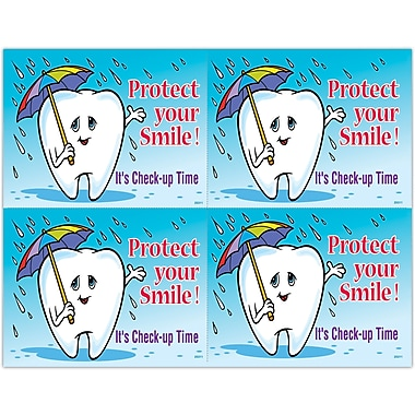 MAP Brand Graphic Image Laser Postcards Protect Smile